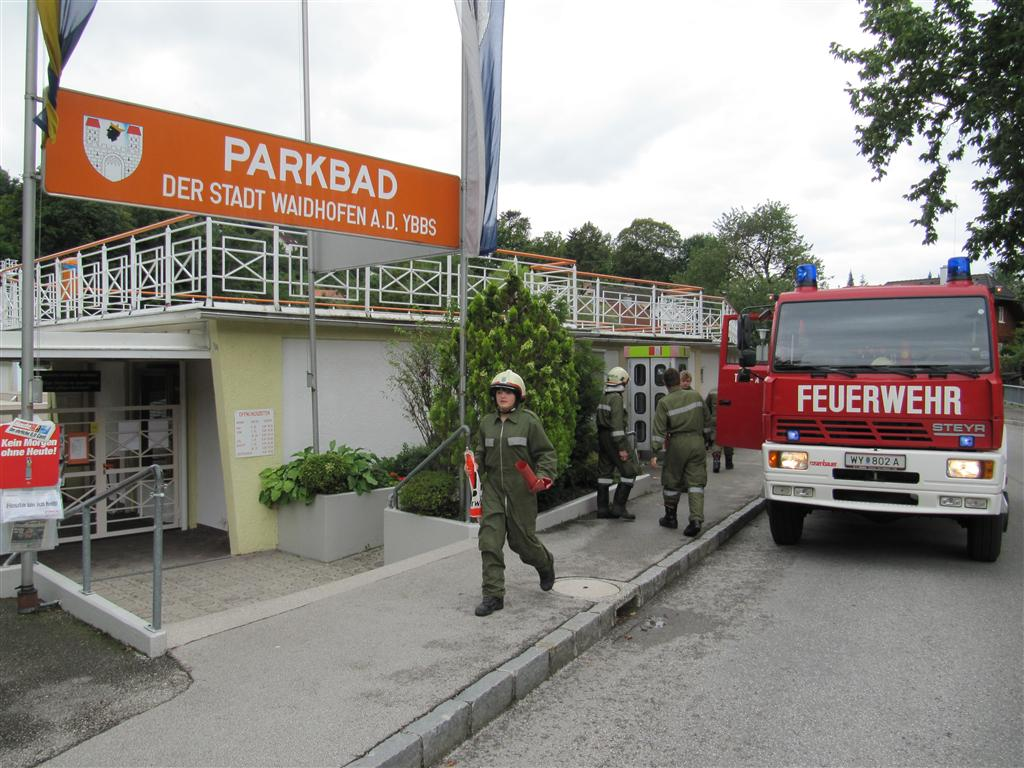 Chlorgasalarm im Parkbad Waidhofen