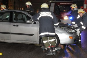 Verkehrsunfall B121, 4.1.2010 (Foto: Martin Steinbach)