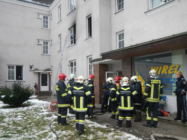 Wohnungsbrand in Böhlerwerk