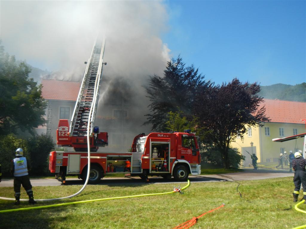 B3: Wohnhausbrand in Gaflenz, OÖ