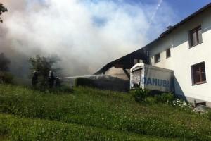B3: Brand eines Heustadls in Ybbsitz