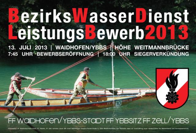 Bezirkswasserdienstleistungsbewerb 2013 in Waidhofen/Ybbs
